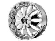 Lorenzo WL29 22x8.5 5x120 +38mm Chrome Wheel Rim