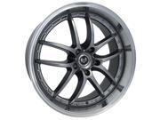 Stern ST-1 Beast 19X8.5 5X120 +13mm Hyper Black Wheel Rim