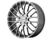 KMC KM693 Maze 18x8 5x112 +40mm Gray/Machined Wheel Rim