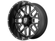 XD Series XD820 Grenade 20x12 8x170 -44mm Black/Milled Wheel Rim