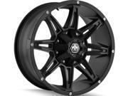 Mayhem 8090 Rampage 22x9.5 5x139.7/5x150 -6mm Matte Black Wheel Rim