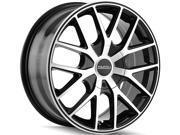 Touren TR60 16x7 4x100/4x114.3 +42mm Black/Machined Wheel Rim