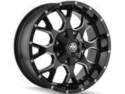 Mayhem 8015 Warrior 18x9 5x114.3/5x127 +18mm Black/Milled Wheel Rim