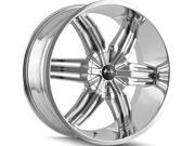 Mazzi 792 Rush 20x8.5 6x135 6x139.7 30mm Chrome Wheel Rim