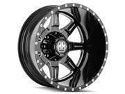 Mayhem 8101 Monstir Dually Rear 20x8.25 8x210 -160mm Black/Milled Wheel Rim
