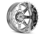 Mayhem 8101 Monstir Dually Rear 20x8.25 8x170 -160mm Chrome Wheel Rim