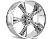 Ridler 695 22x10.5 5x127 +0mm Chrome Wheel Rim