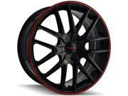 Touren TR60 20x8.5 5x115/5x120 +20mm Black/Red Wheel Rim