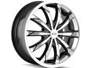 DIP D66 Slack 22x8 5x108/5x114.3 +35mm Black/Machined Wheel Rim