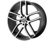 Lorenzo WL35 20x8.5 5x112 +38mm Black/Machined Wheel Rim