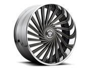"""Dub S241 Daze 24x10 5x4.75""""/5x127 +5mm Black/Machined Wheel Rim"""