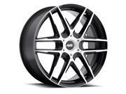 Avenue A613 17x7.5 4x100 4x114.3 40mm Black Machined Wheel Rim