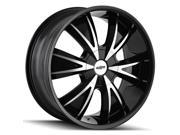 Dip D38 Vibe 20x8.5 5x108/5x114.3 +35mm Black/Machined Wheel Rim