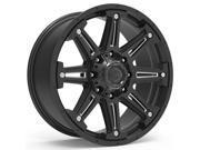 Gear Alloy 741BM Mechanic 18x9 8x170 +18mm Black/Milled Wheel Rim