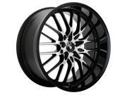 Konig 16MB Lace 17x7 4x100/4x108 +40mm Black/Machined Wheel Rim