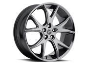 Platinum 419BV Recluse 20x8.5 5x120 +45mm Black PVD Wheel Rim