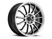 Focal 446U F-13 18x8 5x108/5x114.3 +42mm Black/Machined Wheel Rim