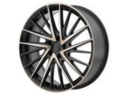 KMC KM697 Newton 20x8.5 5x112 +35mm Black/Machined Wheel Rim