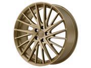 KMC KM697 Newton 20x8.5 5x112 +35mm Gold Wheel Rim