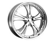 Vision 539 Shockwave 20x8.5 5x115 +22mm Chrome Wheel Rim
