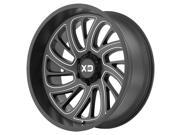XD Series XD826 Surge 20x10 8x170 -24mm Black/Milled Wheel Rim