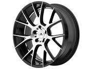 Image of Adventus AVX-7 20x8.5 5x112 +38mm Black/Machined Wheel Rim