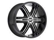 Avenue A612 22x9.5 6x139.7 6x5.5 18mm Black Machined Wheel Rim