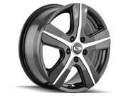 Ion 101 16x6.5 5x108 +50mm Black/Machined Wheel Rim