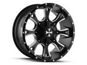 Cali OffRoad 9103 Anarchy 20x10 8x180 -19mm Black/Milled Wheel Rim