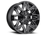 Fuel D555 Ambush 17x9 5x139.7 5x150 1mm Black Milled Wheel Rim