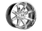 Hostile H109 Alpha 20x10 8x170 -19mm Chrome Wheel Rim