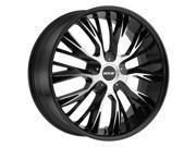 MKW M122 18x8 5x112/5x114.3 +40mm Black/Machined Wheel Rim
