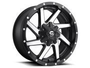 Fuel D593 Renegade 17x9 5x114.3 5x127 12mm Black Brushed Wheel Rim