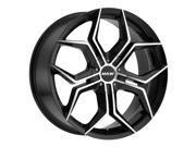 MKW M121 20x8.5 5x112/5x114.3 +35mm Black/Machined Wheel Rim