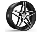 ROSSO 701 REACTIV 22x8.5 5x110 +40mm Black/Machined Wheel Rim
