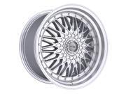 Drifz 310MS Retro 18x8 5x100/5x114.3 +30mm Silver Wheel Rim