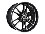 Advanti Racing 84MB Optimo 17x7 4x100  Black/Machined Wheel Rim