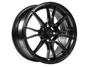 Advanti Racing 86B Storm S2 15x7 4x100  Matte Black Wheel Rim