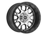 Vision GV8 Invader 18x9 8x170 +12mm Black/Machined Wheel Rim