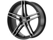 KMC KM703 20x9 5x120 +25mm Black/Machined Wheel Rim