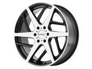 KMC KM699 Two Face 22x9 6x135 +35mm Black/Machined Wheel Rim