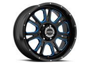 Vision 399 Fury 20x9 5x139.7 +12mm Black/Milled/Blue Wheel Rim