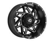 Dropstars 652BM 20x12 8x180 -44mm Black/Milled Wheel Rim