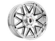 American Truxx AT151 Grind 20x9 8x180 -12mm Chrome Wheel Rim