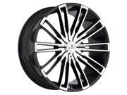 Kraze KR312 Inspire 24x9.5 5x150/5x139.7 +20mm Black/Machined Wheel Rim