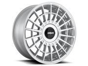 Rotiform R143 LAS-R 17x8 5x100/5x114.3 +30mm Silver Wheel Rim