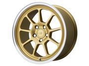 Motegi MR135 18x9.5 5x114.3 +25mm Gold Wheel Rim