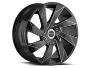 Strada Moto 22x9 5x114.3/5x120 +35mm Black/Milled Wheel Rim
