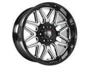 American Truxx AT151 Grind 20x9 6x135 +0mm Black/Milled Wheel Rim