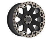 Black Rhino Warlord 17x9 5x139.7 +0mm Black/Machined/Tint Wheel Rim